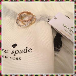 Kate Spade Full Circle Stackable Ring Set NWT 7